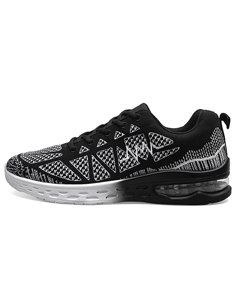 Black Duberess Women's Air Cushion Athletic Running Sneakers Sport shoes Lightweight Breathable Gym Walking shoes