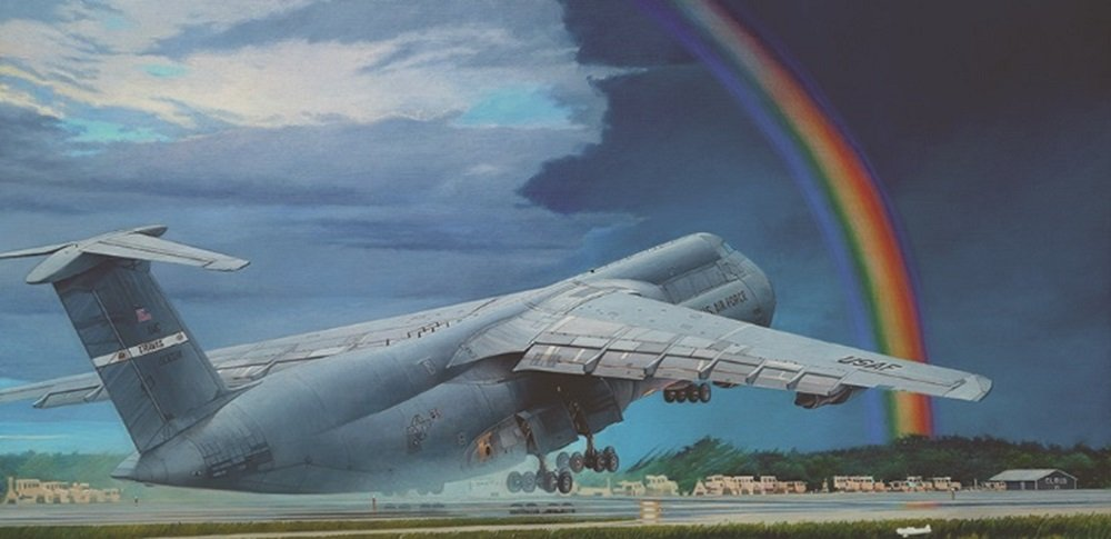 Roden 1/144 US Military Lockheed C-5B Galaxy Strategic Transport Aircraft Plastic Model 014T330 by Roden (Image #2)