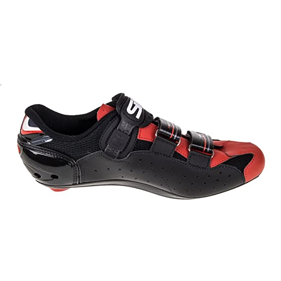 Amazon.com : Sidi Genius 7 Road Cycling Shoes - Black/Black/Red (40) : Sports & Outdoors