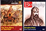 The History Channel : The True Story Of Hannibal , Genghis Khan Biography : Great Military Leaders 2 Pack