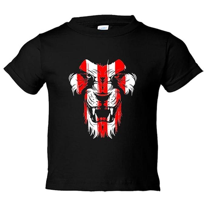 Camiseta niño Athletic león cara colores Bilbao - Negro, 3-4 años: Amazon.es: Bebé