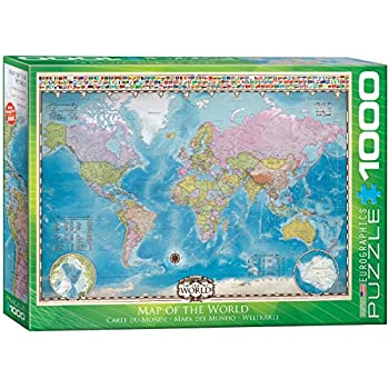 Amazon the global puzzle 600 piece toys games eurographics map of the world puzzle 1000 piece gumiabroncs Choice Image