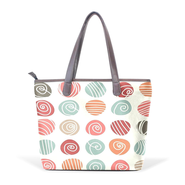 Mr.Weng Household Colorful Lollipop Lady Handbag Tote Bag Zipper Shoulder Bag
