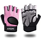SIMARI Workout Gloves for Women Men,Training Gloves for Fitness Exercise Weight Lifting Gym Crossfit,Made of Microfiber SG-907 Pink