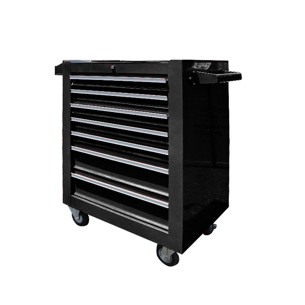7段 キャスター付き ローラーキャビネット 工具箱 ツールボックス プロ仕様工具箱 B01DW3T08Y レッド&ブラック