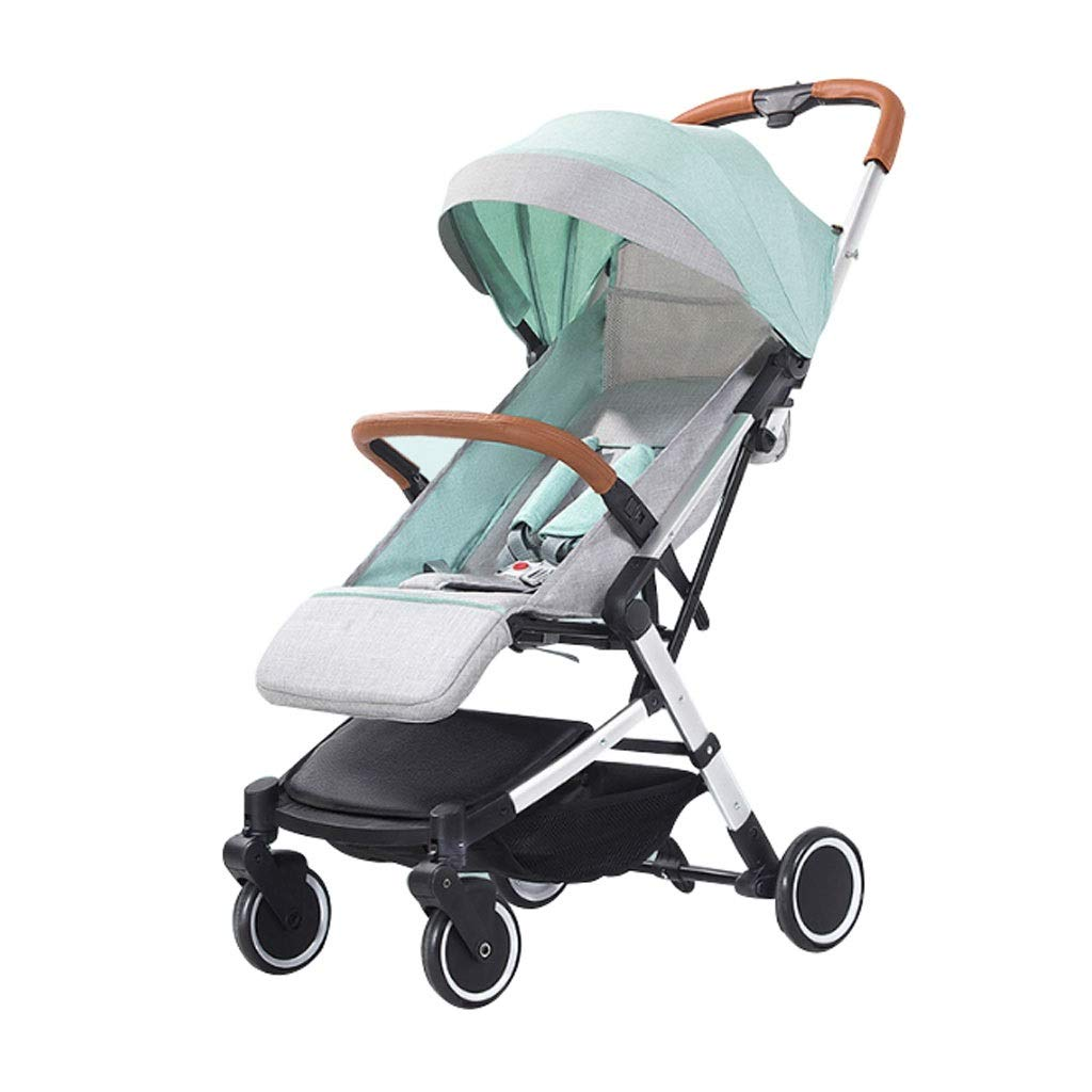 Trolley Cart High Landscape Can Sit Reclining Ultra Light Portable Folding Four-Wheeled Children's Trolley ( Color : 2 )