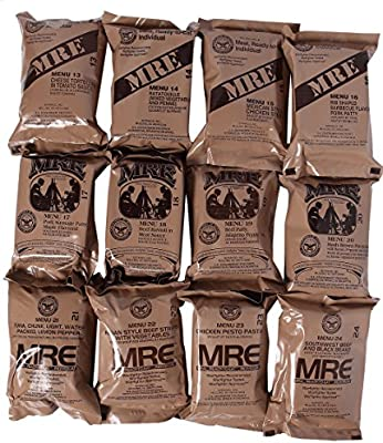 Western Frontier MRE 2019 Inspection Date Case A and Case B Bundle, 24 Meals Packed in 2016. Military Surplus Meal Ready to Eat.