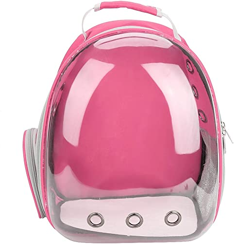 Pssopp Pet Carrier Backpack, Space Capsule Transparent Portable Cat Backpack Breathable Travel Pet Cage Carrying Bag for Small Medium Dogs and Cats