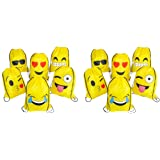 "16""x13"" Emoticon Drawstring Backpack 12-Pack"