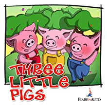 Three little pigs Audiobook by Giacomo Brunoro Narrated by narratore sconosciuto