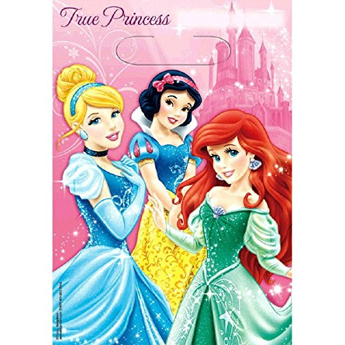 American Greetings Disney Princess Treat Bags (8-Pack), Party Supplies