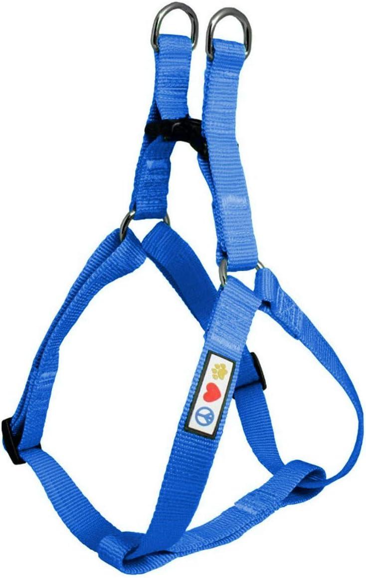 Pawtitas Arnes de Entrenamiento Chaleco Pechera para Perros y Cachorros arnes de adiestramiento Ideal para Caminar Perros Cachorros arnes Mediano Color Azul