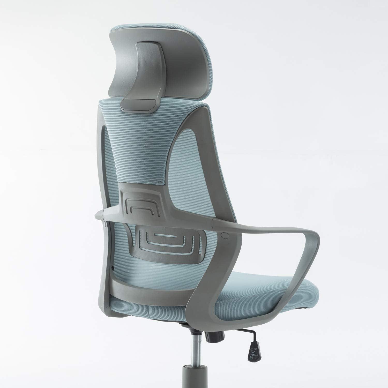 Azul CashOffice Silla de Oficina Giratoria con Reposacabezas Silla de Escritorio Ergon/ómica Transpirable