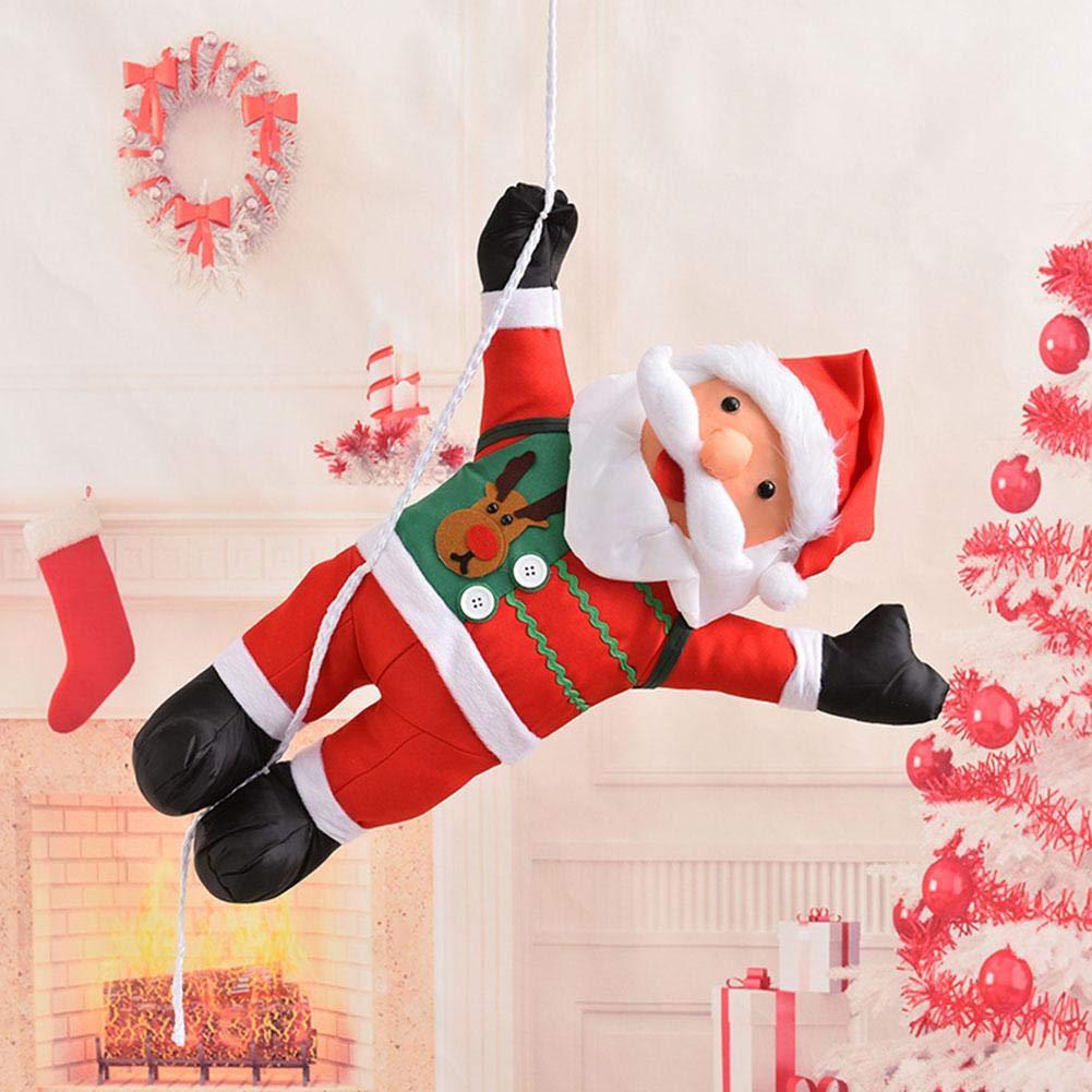 NOWAYTOSTART Muñeca De Santa Claus para Ventana Papá Noel Escalada En La Escalera Navidad Estatuilla Adorno Decoración para Puerta, Pared Y Ventana del Hogar para Navidad: Amazon.es: Hogar