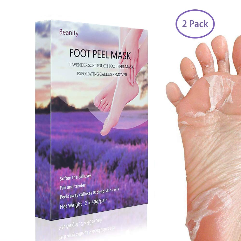 Beanity Foot Peel Mask 2 Pairs Exfoliating Booties Socks for Soft Touch Smooth Baby Feet and Repairs Rough Heels in 1-2 week, Natural Exfoliator and Moisturizes Dry Skin Yoart