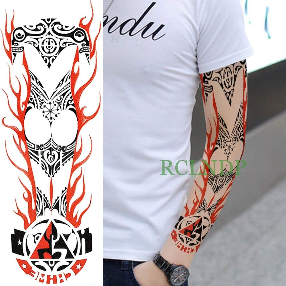 Yyoutop Impermeable Etiqueta Engomada del Tatuaje Temporal Tribal ...