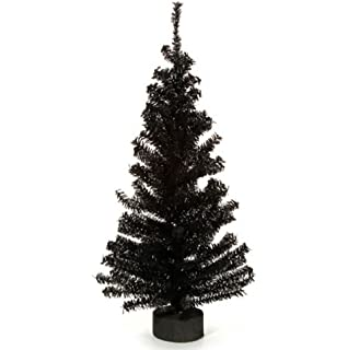 canadian pine tree with wood look base 148 tips black 24 inches