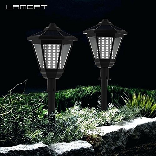 Best Solar Landscape Lights 2019: LAMPAT Solar Lights, 108 LED Decorative Columns Post
