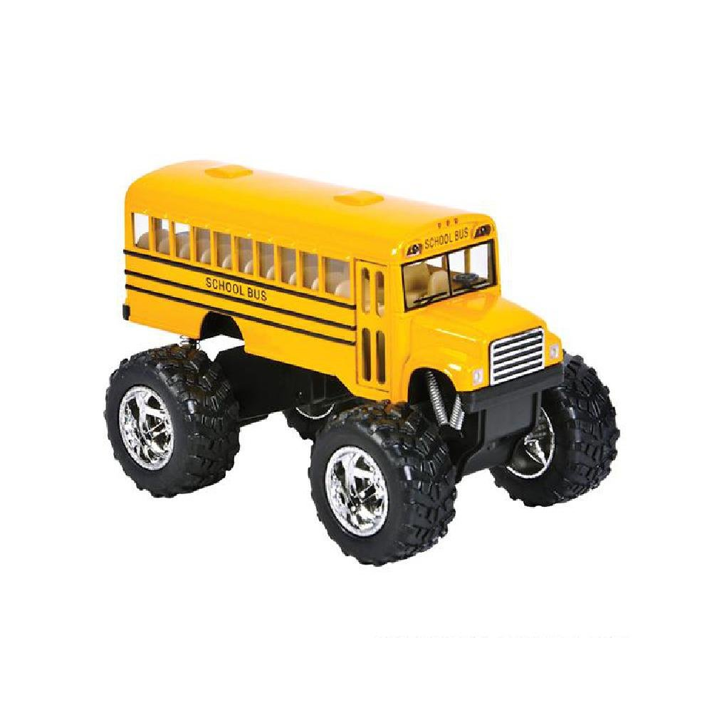 5'' Diecast Pull Back Big Wheel School Bus by Bargain World