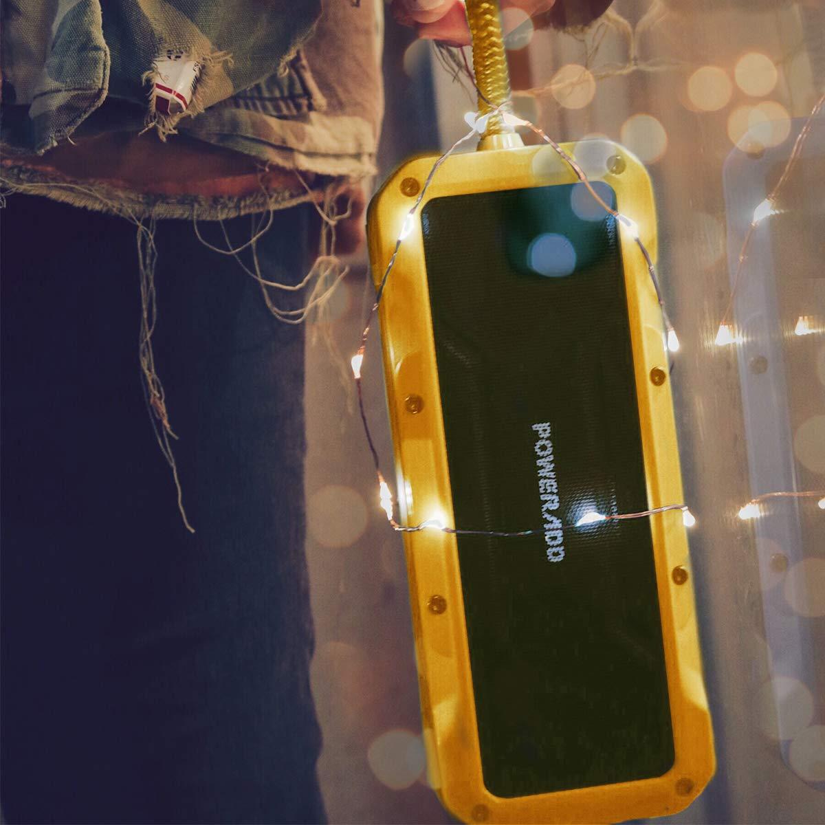 POWERADD Tragbare Lautsprecher Wasserdicht IPX7 Bluetooth Lautsprecher 4.2,36W Musik Box mit 4 StereoTreibern (2X13W+2x5W) mit 8000mAh Powerbank, bis zu 24 Stunden Spielzeit