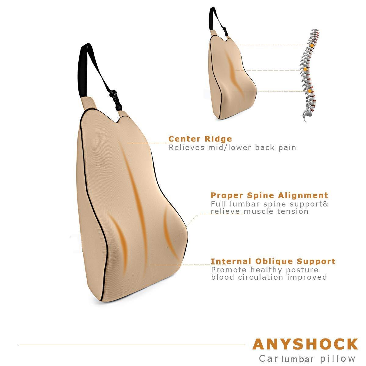 Amazon.com: Anyshock Almohada de apoyo lumbar, cojín de ...