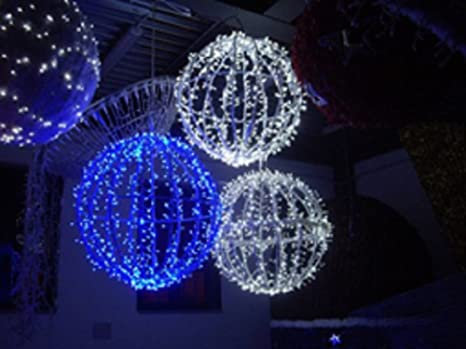 Decorazioni Luminose Natalizie : Decorazioni luci natale sfera luminosa led flash cm.25 blu