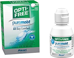 Opti-Free Puremoist Multi-Purpose Disinfecting Solution with Lens Case, 2-Ounces (Packaging may vary)