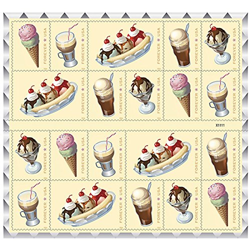 soda-fountain-favorites-usps-forever-first-class-postage-stamp-parties-celebrations-weddings-showers