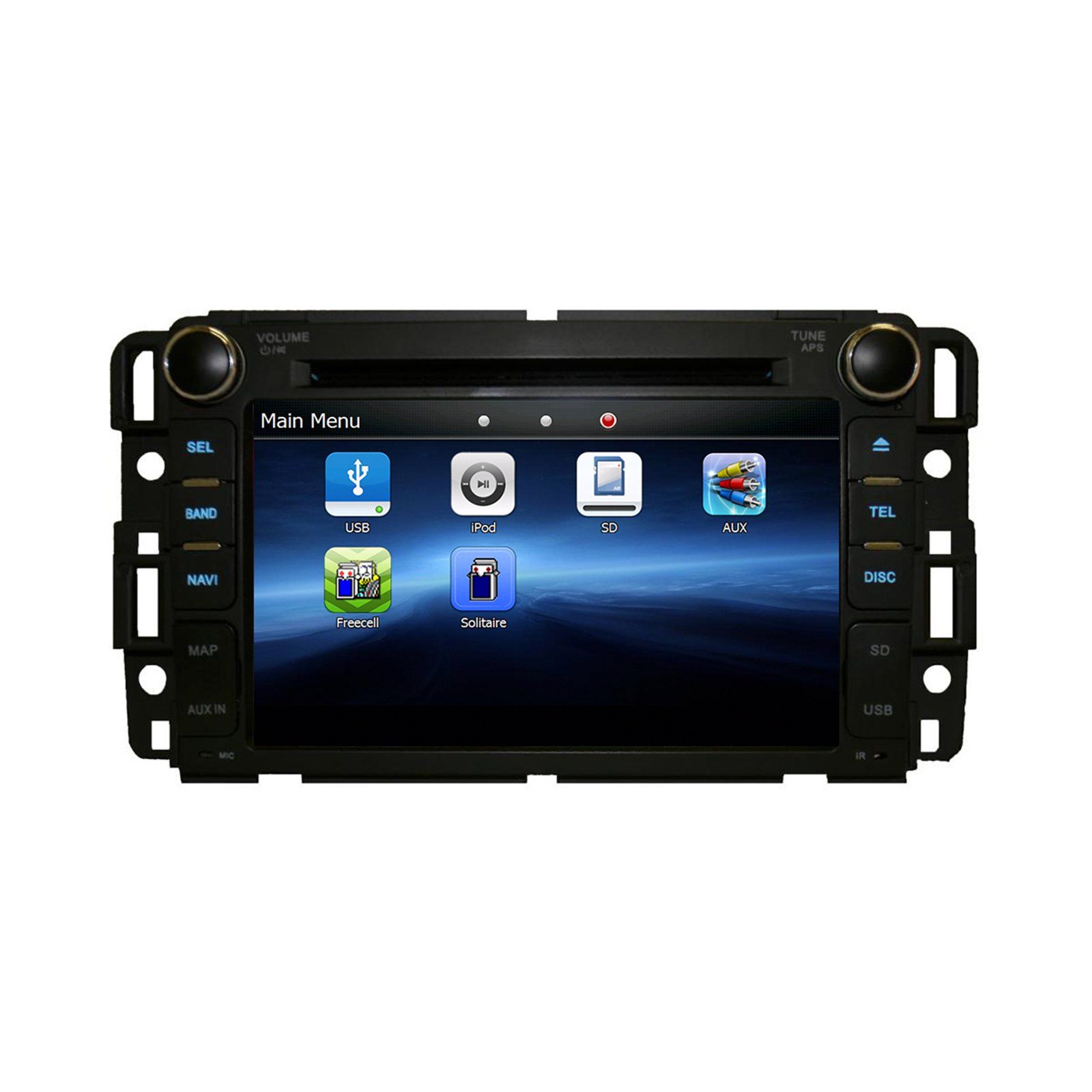 GMC SIERRA 2007-2013 K-SERIES IN DASH BLUETOOTH AM/FM RADIO GPS NAVIGATION TOUCHSCREEN DVD MP3 MP4 MULTIMEDIA SYSTEM - his unit will fit: GMC 07-13 Sierra GMC 07-12 Acadia GMC 07-11 Yukon Chevy 07-12 Silverado Chevy 08-11 Express Van Chevy 07-12 Suburban