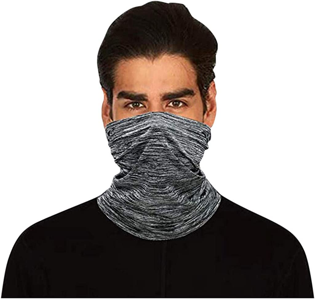 Nopeak Scarf Solid Neck Gaiter Scarf Neck Cover With Safety Filter Washable Protective Face Cover