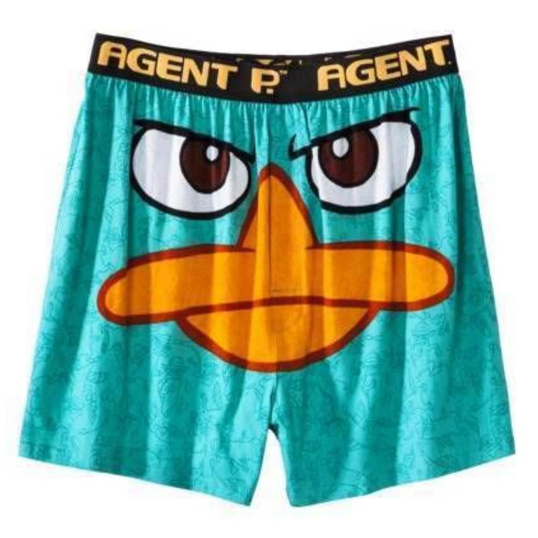 disney phineas ferb mens boxers blue agent p boxer shorts - Valentines Boxer Briefs