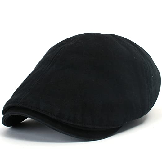 ililily New Men s Cotton Flat Cabbie Hat Gatsby Ivy Caps Irish Hunting Hats  Newsboy with Stretch 60ebbf39b202