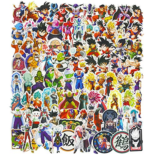 Dragon Ball Z Stickers 100pcs Pack for Cars MacBook Phone Anime Laptop Vinyl Stickers Decals (Car Decals Dragon Ball Z)
