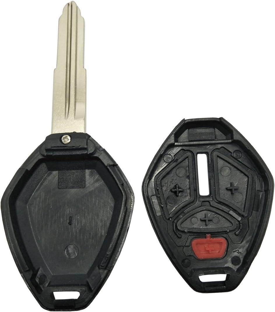 Black Pack 2 Keyless Entry Remote Key Fob Cover Protector Key Bag Fit Mitsubishi Eclipse Endeavor Galant Lancer Outlander Car Key Fob Case Shell