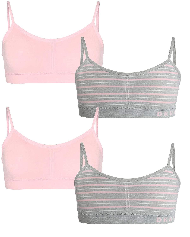 DKNY Girls Nylon//Spandex Seamless Training Sports Bra 4 Pack