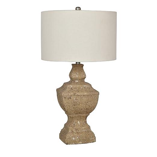 Amazon.com: piedra County WEATHERED lámpara de mesa acabado ...