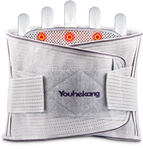 Youhekang Back Brace Support Belt- Relief for Back Pain,Herniated Disc,Sciatica-with Self Heating and Massage Removable pad- Lumbar Support Belt for Men and Women (X-Large)