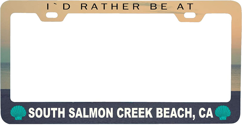 R and R Imports South Salmon Creek Beach California Sea Shell Design Souvenir Metal License Plate Frame