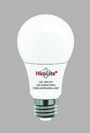 Hiralite - Lámpara led de espectro total, 10W E27, luz