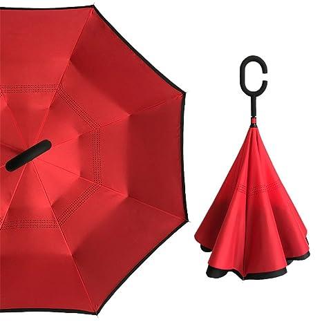 Guoke Double Reverse, Manos Libres Para Coche, Siempre Soleado Paraguas Extra Grande De Hombres