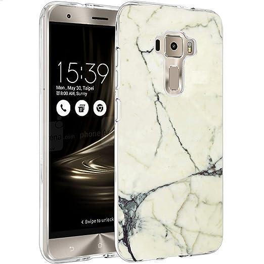 9 opinioni per Asus Zenfone 3 ZE520KL Custodia Cover, WenJie Bianco Marmo Silicone Case TPU