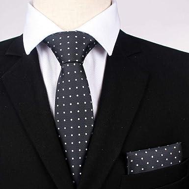 Luygiurp Conjunto de corbata de poliéster para hombres Traje de ...