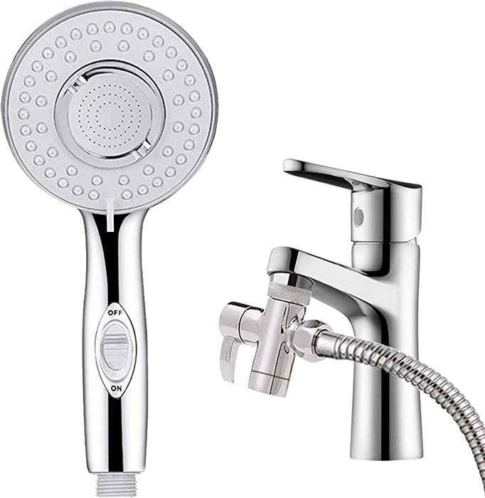 KLLEYNA Sink Faucet Rinser Hose Sprayer Washing Pet Hair in the Sink & Bathtub Powerful Shower Head