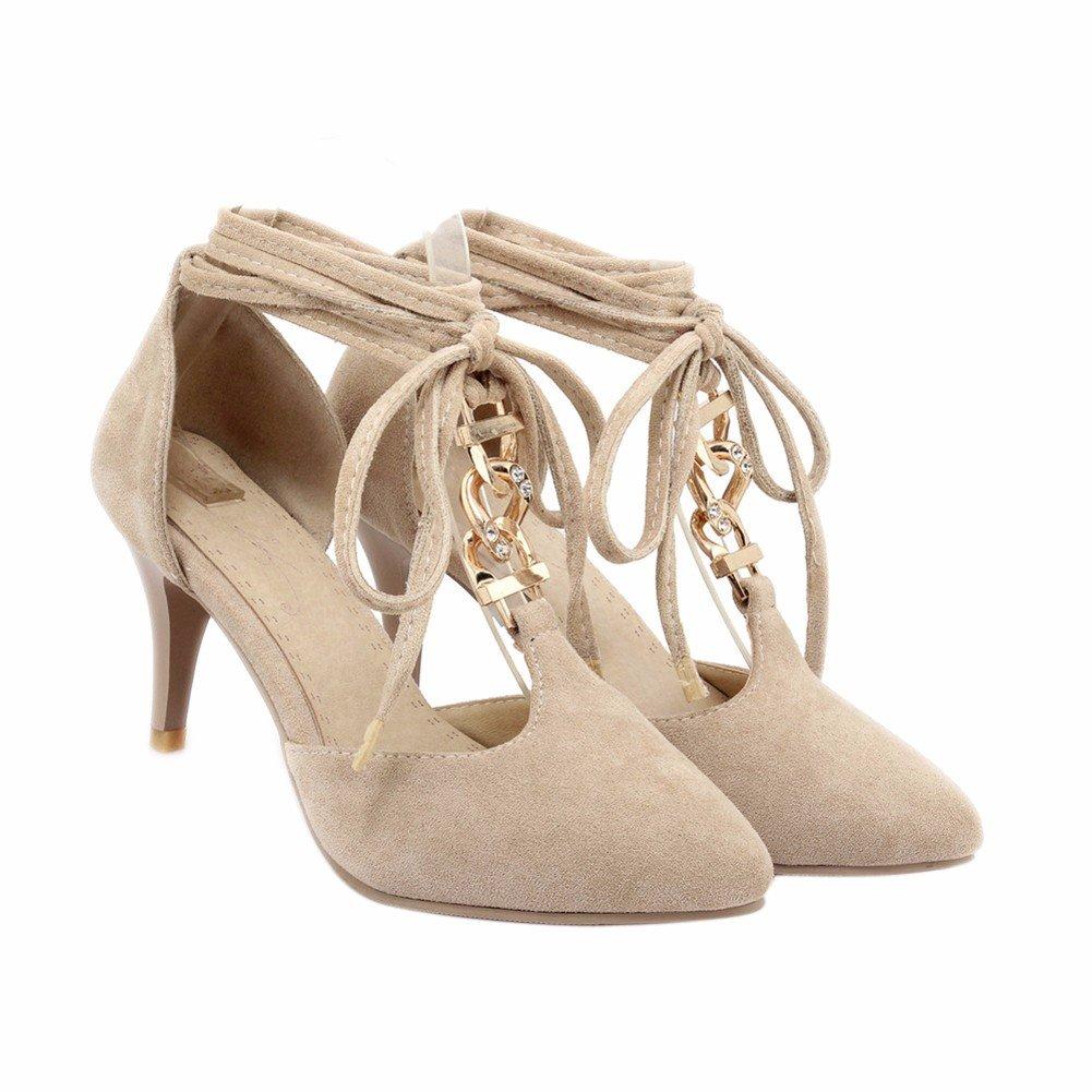 YUCH Frauen High-Heeled Schuhe Quasten Quasten Quasten Spitze Arbeiten Sandalen Frühling Sommer Xin c683dd