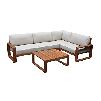 Amazon.de: OUTLIV. Loungemöbel Holz Santa Cruz Loungemöbel Outdoor 5 ...