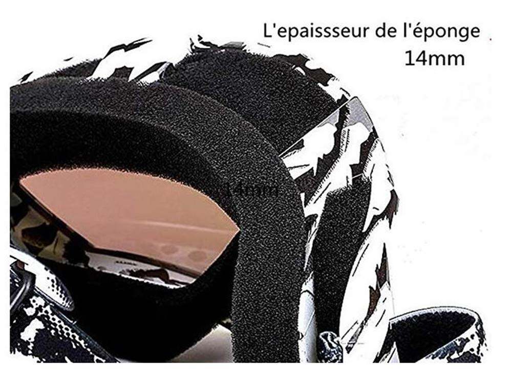 Hava Kolari Motorradbrille Schwarz und wei/ß Ski Motocross Langlauf Mountainbike Outdoor-Aktivit/äten Schutzbrille Maske UV-Schutz Wind und Sand