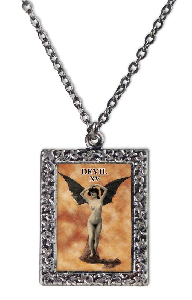 Devil Tarot Card Necklace