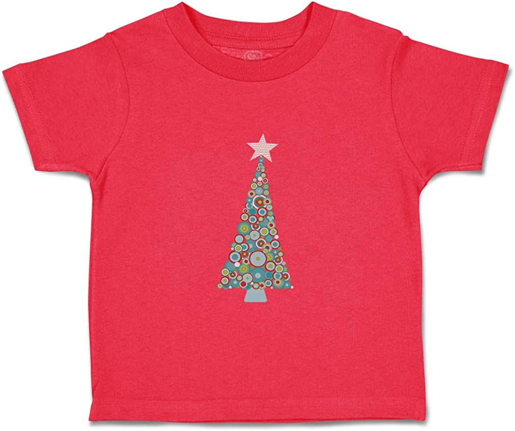 Custom Baby /& Toddler T-Shirt Christmas Tree Rounds Cotton Boy Girl Clothes