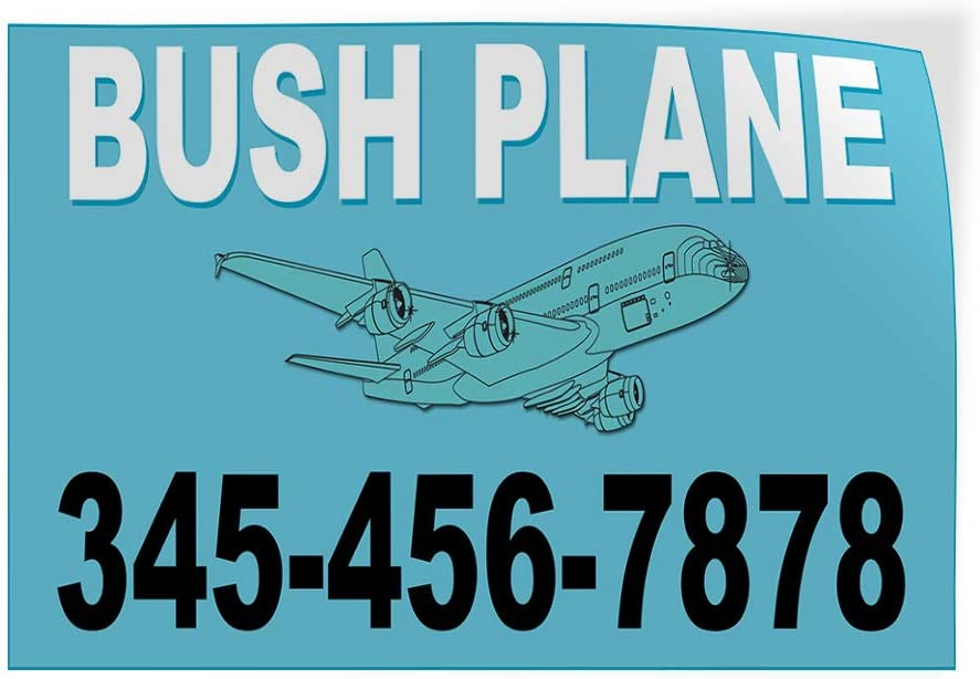 Custom Door Decals Vinyl Stickers Multiple Sizes Bush Plane Phone Number Blue Cars /& Transportation Bush Plane Services Outdoor Luggage /& Bumper Stickers for Cars Light-Blue 12X8Inches Set of 10