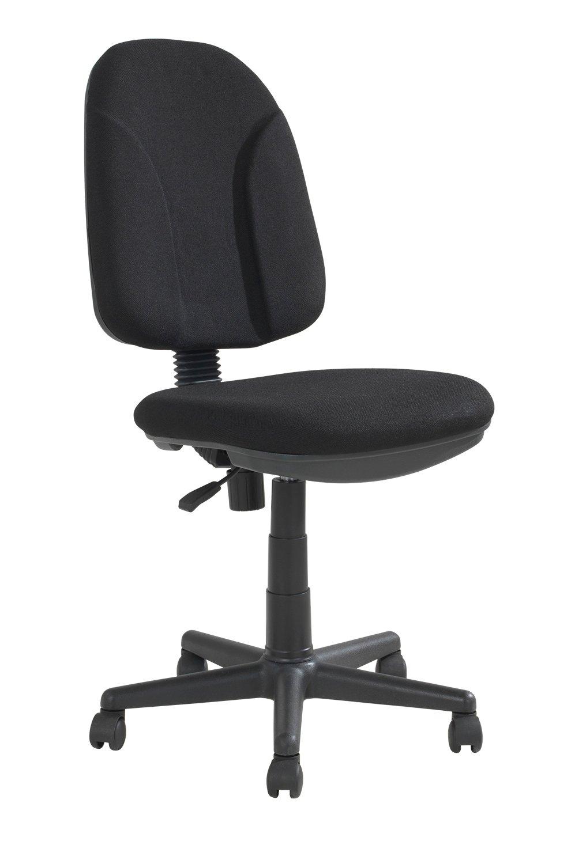 Home4You Bürostuhl Drehstuhl Schreibtischstuhl HARRO 1 | Kunststoff | Schwarz | höhenverstellbar